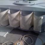 Bolsas para estibar los cabos en cubierta