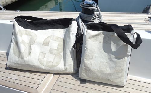 bosses de mà confeccionades amb veles reciclades